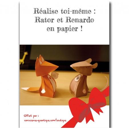 Rator et Renardo en Papier (patrons à imprimer soi-même)