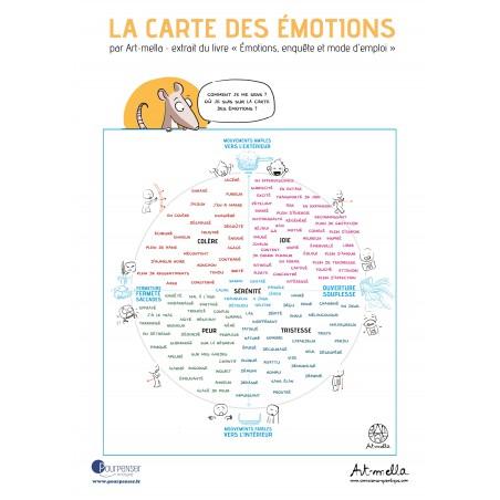 Carte des émotions - Affiche papier A2