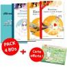 PACK 4 BD + carte offerte !